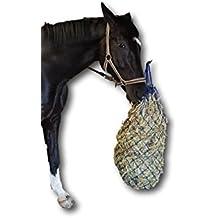 RETE PER FIENO per cavalli a maglie strette 5x 5cm rete artgerechte fuetterung Migliora la Digestione & Benessere degli Animali in paglia Fodera Alimentazione HEU Sack–in Blu, Lunghezza ca. 106cm, peso ca. 3,5kg
