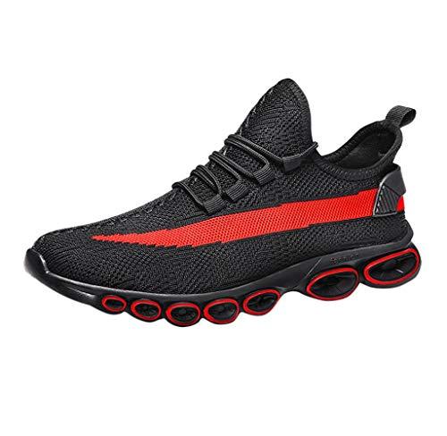 Jimmackey- scarpe da corsa running da uomo atletiche da corsa alla moda per uomo. scarpe da ginnastica antiscivolo luce per camminare correre palestra fitness running gym sneakers