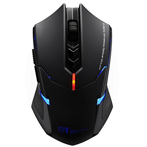 TOPELEK Laptop Maus, Mute-Maus 2.4 G 2400 DPI, 7 Tasten, Drahtlose Maus Silent  Schnurlos Funkmaus Gaming Maus Funk Wireless-maus Optical Business Mouse Mäuse Für PC Laptop iMac Macbook, Office, Home (Wireless-gaming-maus Für Pc)