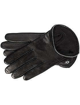 Roeckl Damen Handschuh 'Pearls Piping' Nappa/Seide Schwarz