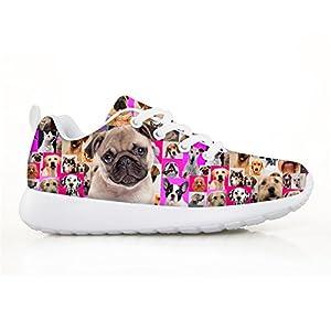 HUGS IDEA Pink Cute Animals Kids Sneaker Running Shoes
