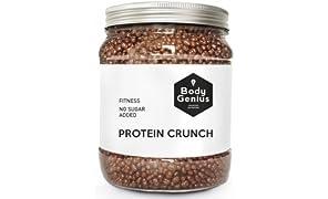 Body Genius PROTEIN CRUNCH (ChocoAvellana). Bolitas de Proteína Recubiertas de Chocolate Sin Azúcar