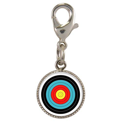 Bogenschießen Ziel Design versilbert Clip-On Charm für Charm Armbänder