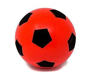 E-Deals 20cm Doux éponge en Mousse Intérieur ou extérieur Football Soccer Ball–Rouge