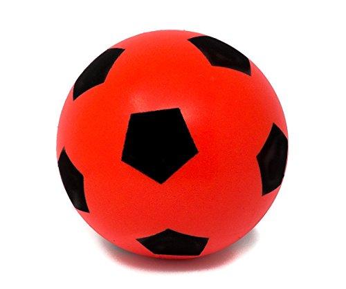 E-Deals - Pallone da calcio in gommapiuma, 17,5 cm, misura 4, colori assortiti