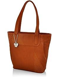 Butterflies Women's Handbag (Tan) (BNS 0605TN)