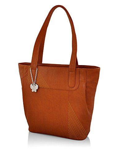 Butterflies Women's Handbag (Tan) (BNS 0605TN)