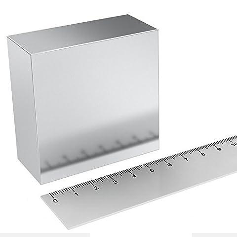 Super aimant Parallélépipède en néodyme 65x 65x 30mm. Puissance 400kg. Eau magnetizzata thérapie magnétique moteur Free Energy Power Engine