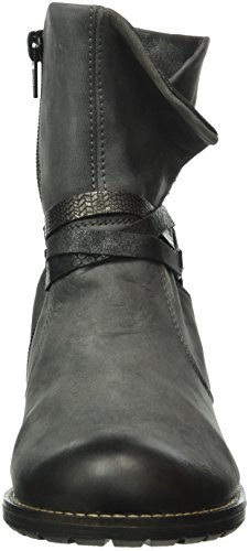 Remonte R33, Bottes Motardes Femme Gris (Gris/Fumo/Graphit/Schwarz-Silber/Granit / 45)