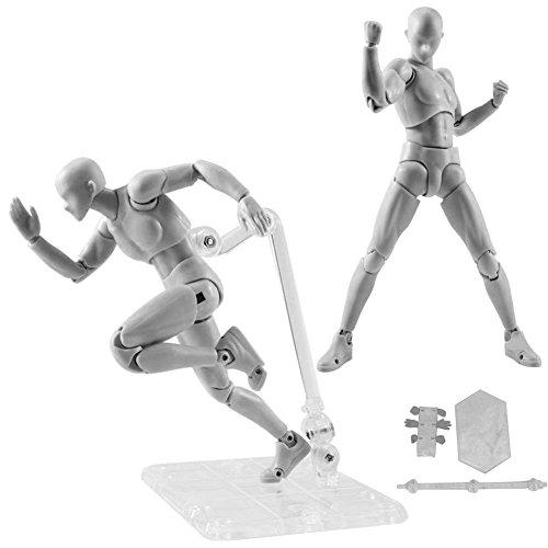 Espeedy Figura de acción Muñeco de juguete,Ella / Él Figura Cuerpo Kun Chan Set PVC Figura de Acción Muñeca Juguete Regalo 13cm