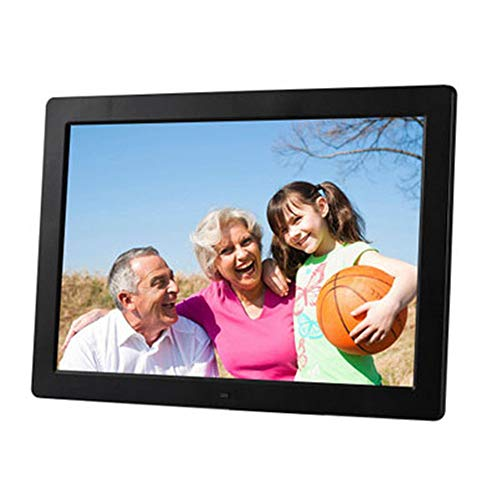 RENYAYA Digital Photo Frame 13 Zoll 1080P HD IPS LCD Display Electronic Picture Frame, HD Video/MP3/Electronic Photo/Advertising Display/Digital Clock/Calendar,Black (Digital Photo Frame Touch-screen)
