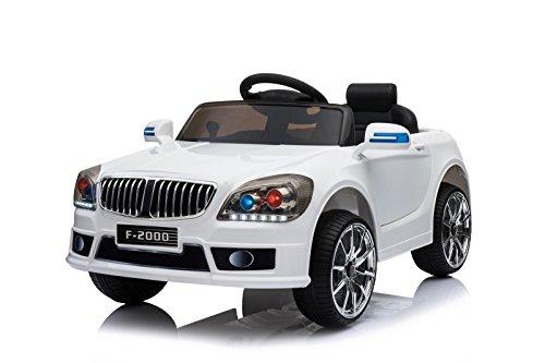 Toyas Kinder Elektro Auto Sportwagen Cabrio Kinderfahrzeug Akku RC LED BLJ9819 Weiß