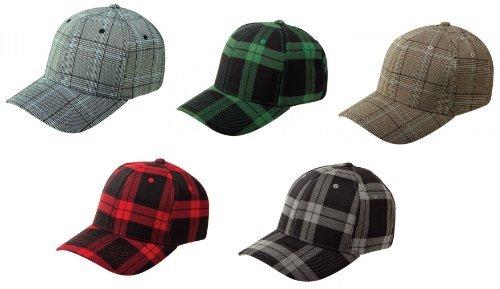 Flex fit Plaid à carreaux casquette baseball en divers couleurs