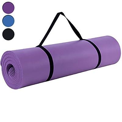 Snngmics Yogamatte Fitnessmatte Extra-dick und Weich, Maße: 185 x 80 x 1,5 cm, In 3 Farben Erhältlich