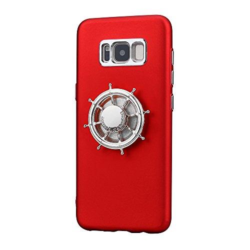 Preisvergleich Produktbild Samsung S8 Hülle, Holeider Hand Spinner Tri Fidget Fokus SpielzeugFall Abdeckung Cover (Rot) (G)