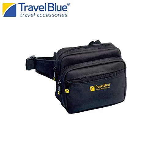 Travel Blue Metro-Gürteltasche 635 Bauchtasche Schwarz Hüfttasche für Reise, Sport, Outdoor Aktivitäten Unisex Hüftgürtel Damen und Herren zum Joggen Wandern Radfahren