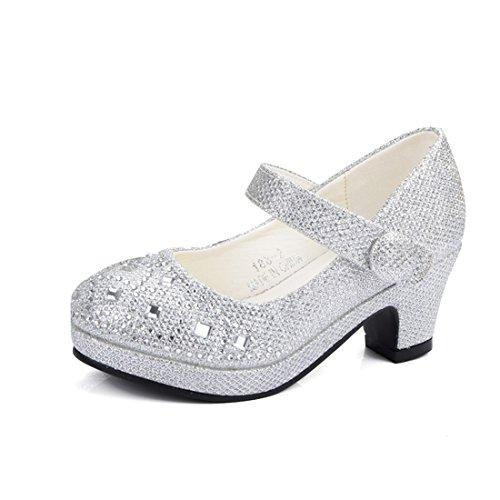 YIBLBOX Mädchen Kinder Gute Qualität Neueste Paillette Design Schuhe Prinzessin Partei Schuhe Sandalen für Mädchen Kostüm Party - Neueste Kostüm