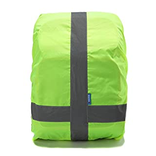 AYKRM Heavy Duty High Visibility Reflective Waterproof Rucksack Backpack Cover (Yellow)