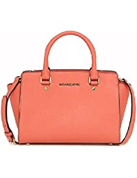 6f349c82f9 Michael Kors - Selma Saffiano Leather Medium Satchel, Borsa con Maniglia  Donna