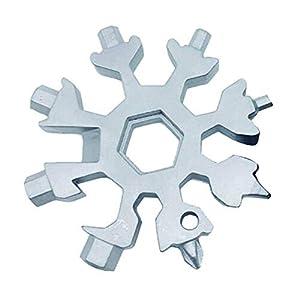 Random 18 in 1 Edelstahl Stell Multi-Tool, Schneeflocke Multi-Tool Screwsdriver Dosenöffner Anti-verlorene Schlüsselanhänger