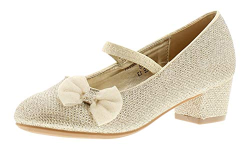 138ce38809c7 Princess Stardust Polly Girls Kids Party Shoes Gold - Gold - UK Size 12
