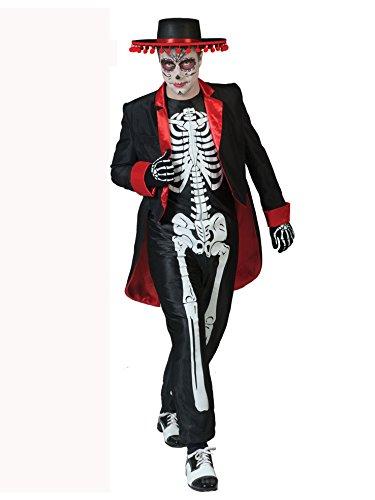 s muertos Halloween Kostüm für Herren L (Halloween-make-up Zu Kaufen)