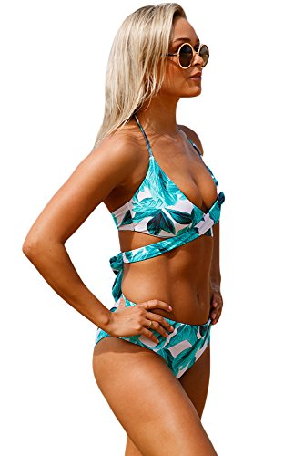 QUEENIE VISCONTI  Damen Bikini-Set Grün