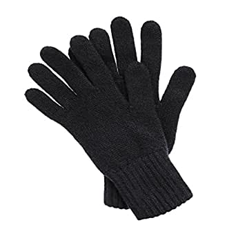 Women's Cashmere Gloves made in Scotland (Black)