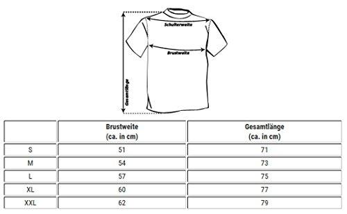 Key Largo Herren vintage Look T-Shirt mit Brusttasche tiefer V-Ausschnitt v-neck slimfit tailliert einfarbig uni T00780 Dunkelblau