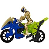Power Rangers Dino Charge - Moto de transformacion, color dorado (Bandai 42074)