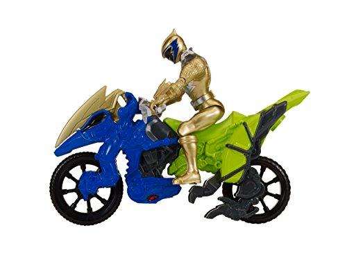Power Rangers Dino Charge Moto de transformacion, color dorado (Bandai 42074)