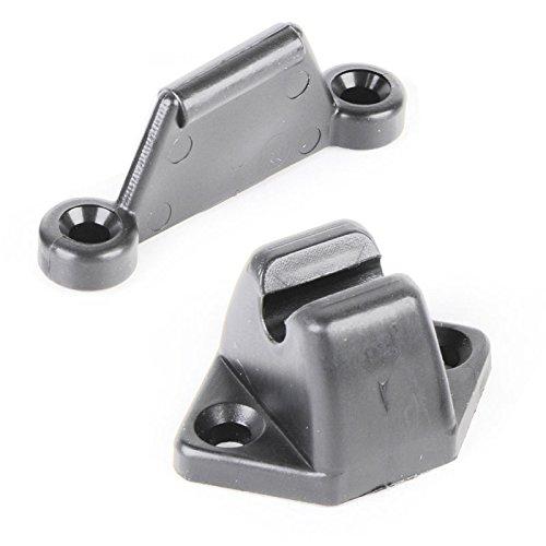 Preisvergleich Produktbild OCS Türfeststeller Set 2 tlg. grau für Wohnwagen oder Wohnmobil