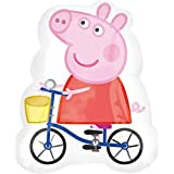 Peppa Pig Riding Bike Supershape Foil Balloon (se vende sin inflar)