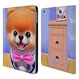 Head Case Designs Offizielle Boo-The World's Cutest Dog Fliege Charakter Kunst Brieftasche Handyhülle aus Leder für iPad Air (2013)