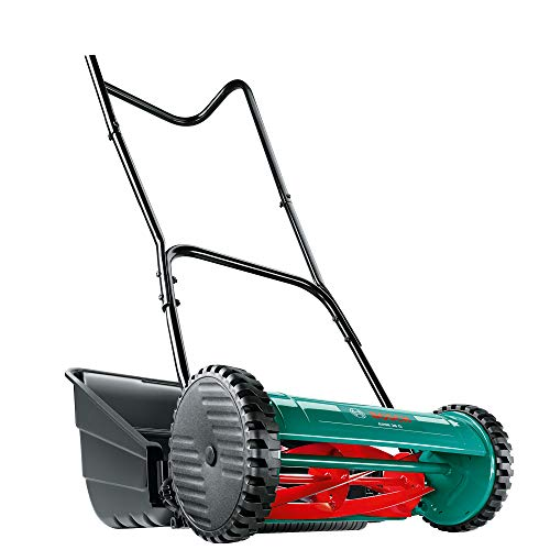 For small gardens, the Bosch AHM 38 G Cylinder Lawnmower is the perfect machine for you. A manual lawnmower with horizontally mounted cylinder of blades that cuts against a fixed bottom blade, gives your lawn a clean cut.