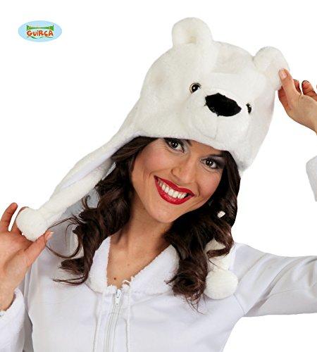(Guirca Süße Eisbärmütze Eisbär Polarbär Bär Mütze Hut Erwachsene Tier Bärenkopf Karneval)