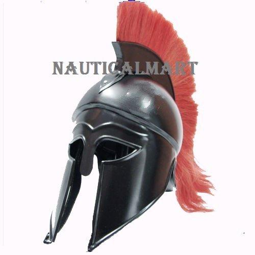 Griechische Korinthischer Helm mit Rot Plume Armor SCA Ritter Mittelalter Spartan Helm von nauticalmart