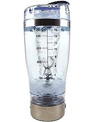 Shaker bouteille pour café thé fruits jus Protéines mehrz weckmi scher Tornado USB rechargeable rühren Cup, Argent