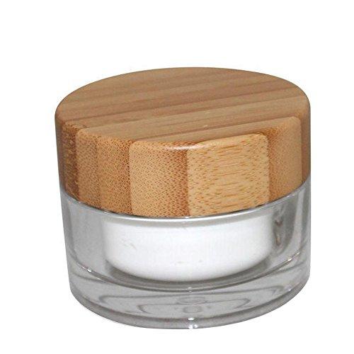 50grammi/Bottiglia, Ml, Crema Acrilico, barattoli cosmetici contenitore con rivestimento e ambientale coperchio in bambù