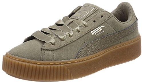 Puma Suede Heart Bubble Wn's, Zapatillas para Mujer, Marrón (Bungee Cord-Bungee Cord), 36 EU