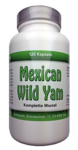 Mexican Wild Yam Kapseln, ganze Wurzel, 150 Kaps x 750mg, vegan -