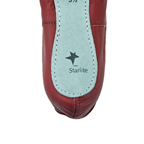 Ballerines en cuir semelle entière Starlite - différentes couleurs Blanc