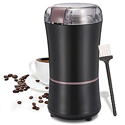Skymore Premium 150W Electric Coffee Grinder With Brush, Espresso Grinder for Grinding Coffee Beans, Nuts Cereal and Spice, Stainless Steel Blade Mill, Black from Wispury