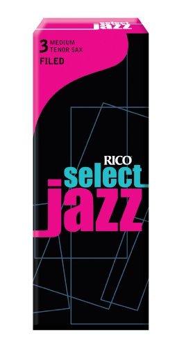 Rico Select Jazz Blätter für Tenorsaxophon (Stärke 3, Medium, 5er-Pack)
