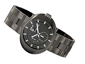Replay Gents Black Dial Gun Metal Bracelet Watch