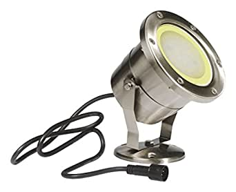 projecteur de bassin Ø 12.4 cm - inox- ip 68 - mr 30 - super leds