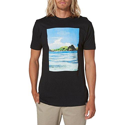 Reef Coast Tee Herren Shirt, Black M Schwarz (Reef Bekleidung)
