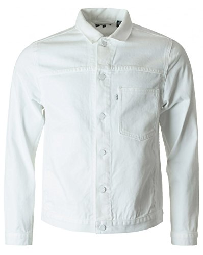 Levi's Homme Ligne 8 ND Twill Trucker Jacket, Blanc Blanc