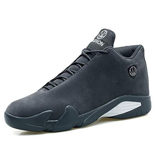 ZHRUI Männer Basketball Schuhe Air Sole Outdoor Hohe Spitzensport Athletic Man Sneakers (Farbe : Grey a, Größe : 7=41 EU) - Mens Athletic-basketball-schuh