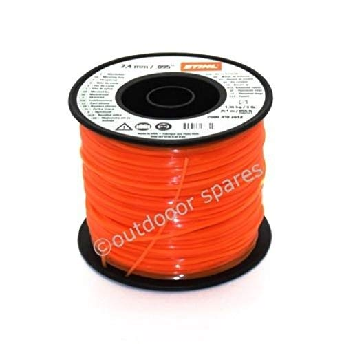 STIHL STRIMMER BRUSHCUTTER LINE WIRE 2.4mm X 261M ORANGE SQUARE 0000 930 2612
